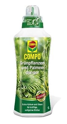 COMPO Grünpflanzen- und Palmendünger, flüssiger Blumendünger mit einer idealen Nährstoffkombination für alle Grünpflanzen