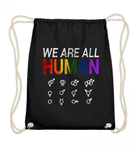 Hochwertige Baumwoll Gymsac - LGBT IST EIN MENSCHENRECHT T-Shirt HOMO - NA UND? GESCHENK