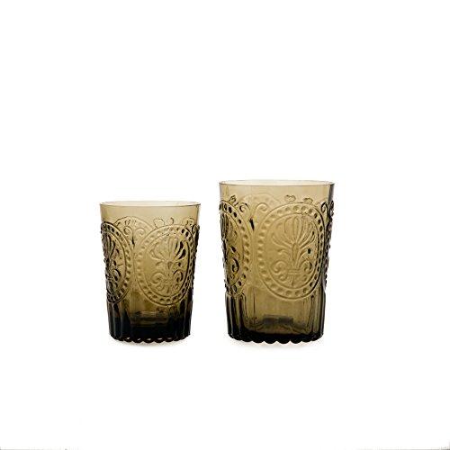 Van Verre Trinkglas Fleur de Lys, braun, L (Bild rechts)