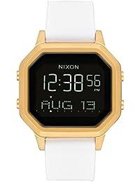 Nixon Siren SS A1211508 - Reloj digital para mujer con caja dorada y correa de silicona