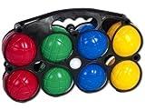 Kunstoff Boule Boccia Krocket Set 8 große 1 kleine Kugel inkl. Tragekoffer