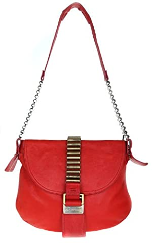 Gianfranco Ferre Damen Sacs portes epaule City bag-Neu m. kleinen Fehler Rouge GF1000-RE