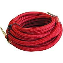 Tibelec 073660 - Cable eléctrico textil 4 V 400 x 05 x 05 cm color rojo