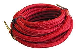 Tibelec 073660 Câble électrique textile Rouge