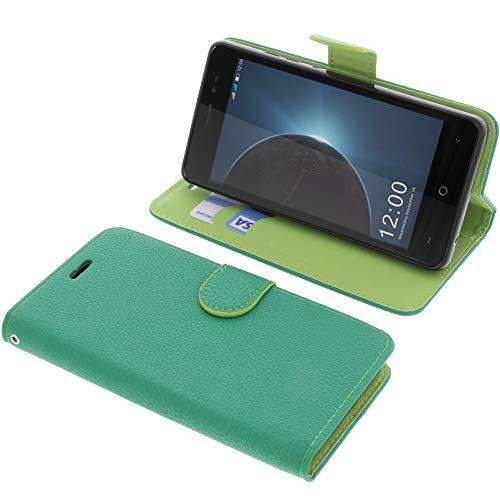 foto-kontor Tasche für Leagoo Z6 Book Style grün Schutz Hülle Buch