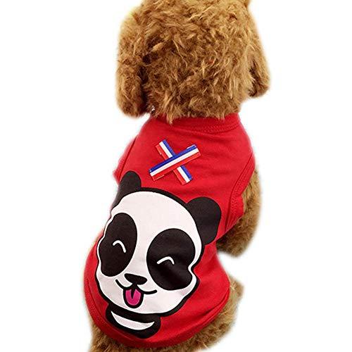 Übergröße Einfache Kostüm - PerGrate Haustier Hund Kleidung, Süße Katze Welpe Sommer Baumwollweste Cartoon Drucken T-Shirt Outfits Kostüm Kleidung Mantel Übergröße - Rot, XL(Back:40cm,Bust:50cm,Neck:33cm)