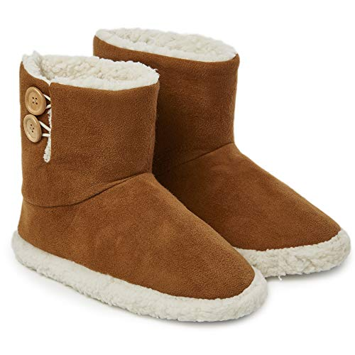 Dunlop Slippers for Women, Faux Sheepskin Fur Bootie Slippers Women, Warm Winter Slipper Ankle Boots, Memory Foam Plush House Slippers, Indoor Outdoor Shoes, Gifts for Ladies