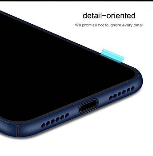 iPhone X Rückseite Hülle - Ultra Dünn Schutzhülle Hart PC Rückseitige Abdeckung Schild für iPhone X Smartphone Rückenschale - Blau Blau