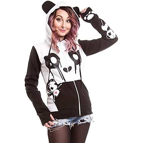 Killer Panda - Sudadera con capucha - Manga Larga - para mujer
