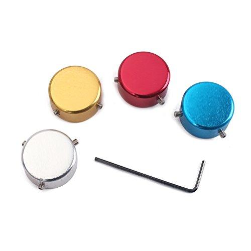 Healifty 4 stücke Elektrische Gitarre Effektpedal Schalter knopf Metalleffekte Pedal Caps Effekt Pedal Knöpfe mit Schraubenschlüssel