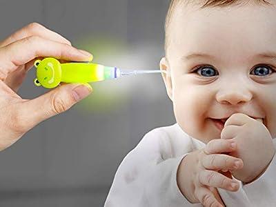 Altsommer LED Ear wax Remover Tool,3 Adapters Flash Light Earpick Ears Clean Tools Curette Tweezer