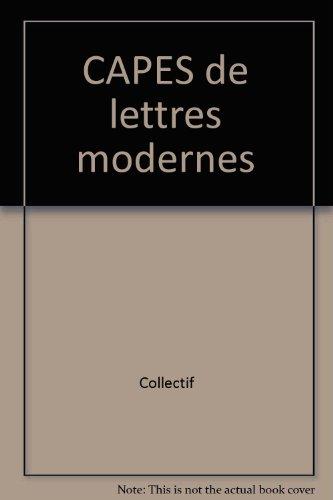 CAPES de lettres modernes