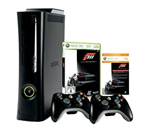 Xbox 360 - Konsole Super Elite 250 GB inkl. 2 Wireless Controller + Forza Motorsport 3