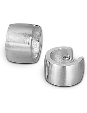 SilberDream Ohrschmuck Creole Matt 13mm - silber - Ohrring aus 925er Sterling Silber SDO372M