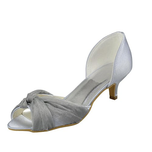Kevin Fashion - Peep-Toe donna , Bianco (bianco), 36