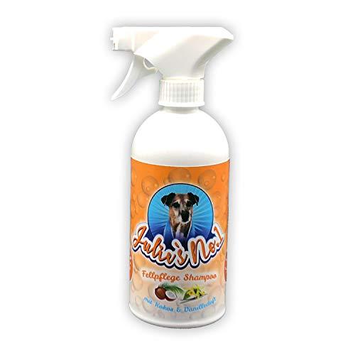 Julies No 1 Fellpflege Shampoo Premium   Zur sanften Pflege & Reinigung von Tierfellen   Hund & Katze   Von professionellen Hundefrisören mitentwickelt   500 ml Flasche mit Schaumsprühpistole