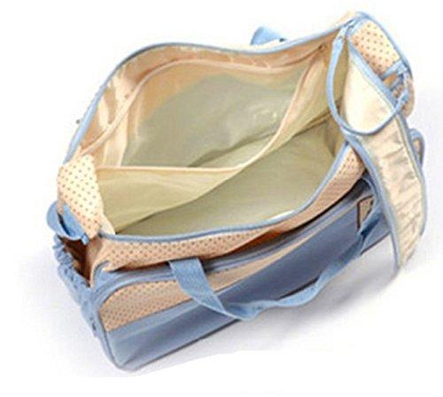 Fanessy Lot Tasche A Wickeltasche Komfort Bebe 5Pieces Cafe Tasche Außen + Tasche Innen + Lunchtasche und Tasche Fläschchen + Schicht Tasche Innen Außen hellblau