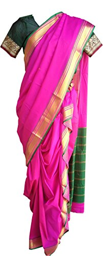Jay Vithai Tradition Silk Saree (Saree404439403_Pink)