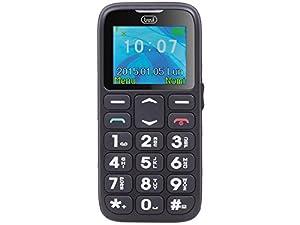 Trevi SICURO 10 Telefono Cellulare per Anziani con Tasti Grandi, Funzione SOS, Base di Ricarica, Nero