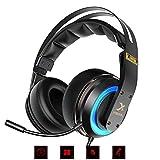 Tlgf Gaming-Headset Stereo Over-Ear Headphone Mit Mic, Für Computerspiel Mit Geräuschkarton & Lautstärke-,7 7.1 Dolby Surround,5Mm Mit Licht