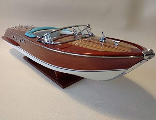 Générique modellino in legno del motoscafo riva ariston, 53 cm