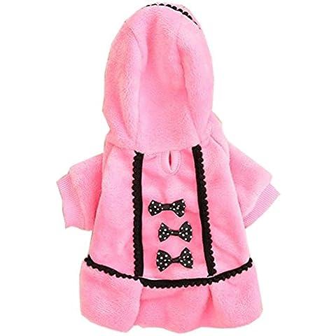 Tongshi Perro abrigo chaqueta fuentes del animal doméstico ropa invierno ropa traje de perrito