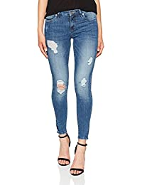 ONLY Damen Skinny Jeans Onlkendell Reg Sk Ank Jeanscre162330noos