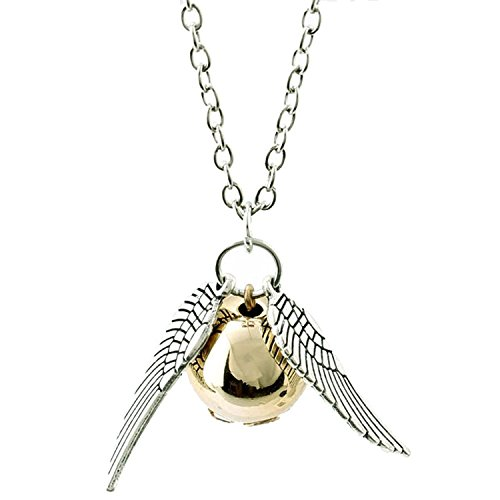 Oviya Snitch Silver Golden Unisex Pendant with Chain PS7201583R