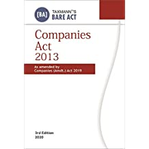 Taxmann's Companies Act 2013 - As Amended by Companies (Amdt.) Act 2019 (Paperback Pocket Edition-Bare Act)(3rd Edition 2020)