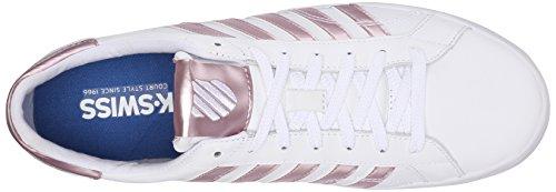 K-Swiss Belmont So, Sneakers Basses femme Blanc (White/silver Pink 143)