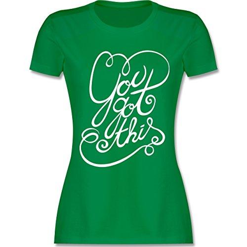 Statement Shirts - You got this - tailliertes Premium T-Shirt mit Rundhalsausschnitt für Damen Grün