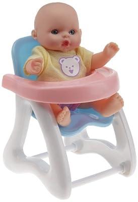 Logitoys 1004O551 - Muñeca bebé con silla alta para comer, 12 cm por Logitoys