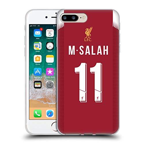 Head Case Designs Offizielle Liverpool Football Club Mohamed Salah 2019/20 Spieler Home Kit Gruppe 1 Soft Gel Huelle kompatibel mit iPhone 7 Plus/iPhone 8 Plus