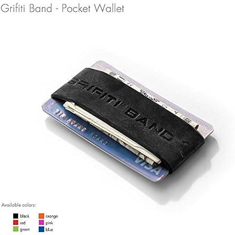 Grifiti Band tasca Portafoglio profilo sottile in silicone colorato Improved Broccoli Band per biglietti, licenza,