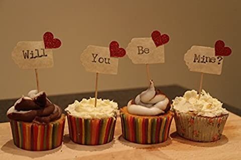 Will You Be Mine? Cupcake Toppers