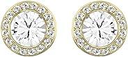 Swarovski Women's Gold-Tone Plated White Crystal Angelic Stud Pierced Earrings 5505470