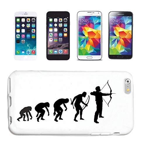 Phone 5 / 5S BOGENSCHIEßEN - BOGENSCHÜTZE - Pfeil UND Bogen - BOGENSCHIEßEN - Bogen Sportverein Hardcase Schutzhülle Handycover Smart Cover für Apple iPhone in Weiß ()