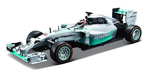 "Maisto Tech R/C Mercedes AMG Petronas F1 W05 Hybrid: Ferngesteuertes Auto \""Lewis Hamilton\"" 1:24, Original Formel 1, 22 cm, silber-türkis (581082-1)"