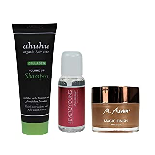 M. Asam® Magic Finish 30ml + 4EVER YOUNG Skin Manager 50ml + ahuhu organic hair care Collagen Volume Up Shampoo 75ml