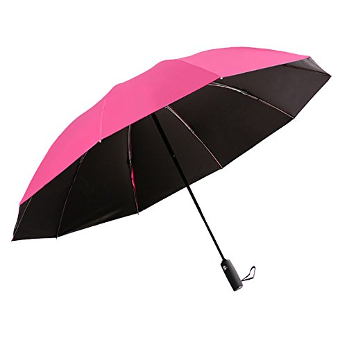 Reverso Compacto Parasol Plegable Doble Capa Apertura