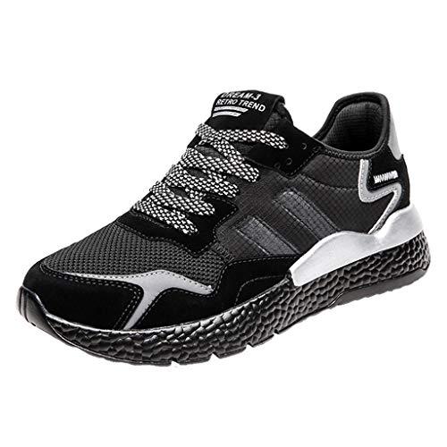 Laufschuhe Herren Yesmile Mode Sportschuhe Turnschuhe Outdoor Leichtgewichts Laufschuhe Freizeit Atmungsaktive Schuhe Joggingschuhe Atmungsaktiv Leichte Sportschuhe Laufschuhe
