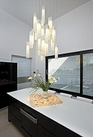 Verre d'éclairage Lustre Exclusive faite à la main pour le salon Chambre à coucher couloir Décoration éclairage Intérieur, fabriqué par l'artiste Shimal E lumière dans l'art