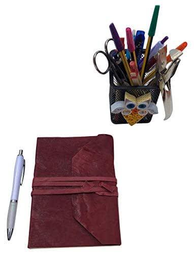 CG - Talento Fiorentino, quaderno, agenda, diario, libro muto rivestito in vera pelle lavata effetto stropicciato vintage, fatto a mano a Firenze, Made in Italy (Rosso scuro)
