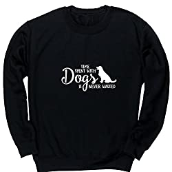 HippoWarehouse Time Spent with Dogs is Never Wasted kids unisex jumper sweatshirt pullover