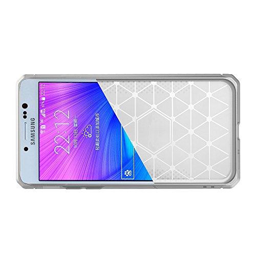 Für Samsung Galaxy J7 Prime Case Gebürstet Lines Texture Cartoon Faser Durable Anti-Rutsch TPU Cover Schock Absorbtion Schutzmaßnahmen zurück Deckung ( Color : Dark Blue ) Light Gray