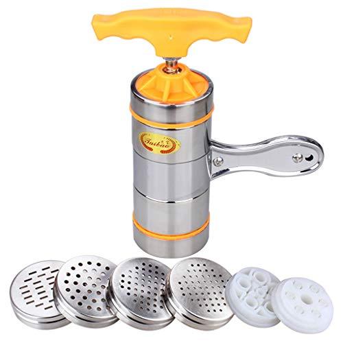 Manuelle hochwertige Pressmaschine Haushalt Kleine handgekurbelte Nudeln Edelstahl Authentic Pasta Machine (Color : Orange)