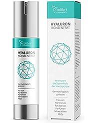 Hyaluronsäure Serum hochdosiert - Testsieger 2018 - natürliche Hyaluron Anti-Aging Creme - 50ml von colibri cosmetics - Naturkosmetik Made in Germany