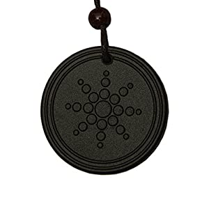 Aarogyam Energy Jewellery Quantum Science Energy Scalar Unisex Black Pendant Made From Lava