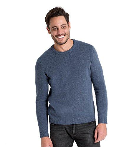 WoolOvers Lambswool Pullover mit Rundkragen - Herren (Lambswool) - L1 Cambridge Blue