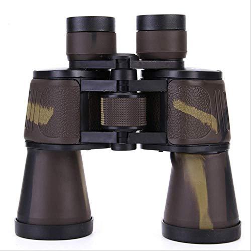 Wyjs Telescopio Binoculares Tricolor 20X50 Compact Hd Asika Zoom Binoculares Bak4 Prism Óptico Binoculares De Camping Marrón